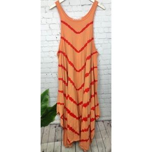 Free People Scoop Neck Maxi Dress Size Large
